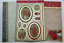 Hunkydory A Poinsettia For You Christmas Toppers & Card Kit