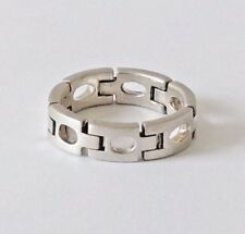 925 STERLING SILVER CHAIN BAND RING size L1/2, M, M1/2, N, N1/2 or P