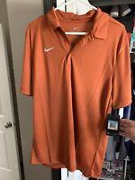 Nike Men's Dri-Fit Large Game Day Polo Burnt Orange Size M NWT