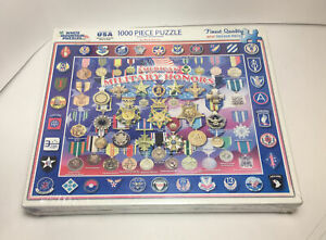 NEW White Mountain 1000 Pieces Jigsaw Puzzle - American Military Honors - Sealed