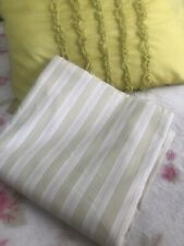 Simply Shabby Chic Green White Striped Fabric Shower Curtain Rachel Ashwell