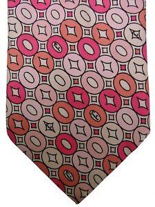 EMILIO PUCCI Mens Tie Pink Polka Dots