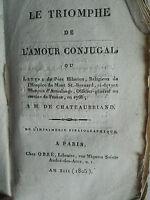 LE TRIOMPHE DE L'AMOUR CONJUGAL 1805