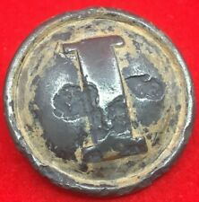 """Civil War -Confederate Pewter """"I"""" Infantry Button"""