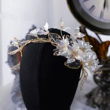 Brides Flower Hairbands Brides Headdress Rhinestone Wedding Hair Accessory