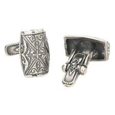 MA6 ~ Sterling Silver Medieval-Byzantine Cufflinks