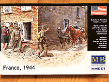 Masterbox 1:35 France 1944 Horse And Cart With Figures WW2 Era Model Kit