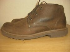 CLARKS DARK BROWN LIGHTWEIGHT LACE-UP ANKLE BOOT SIZE 9 UK ( G FITTING )