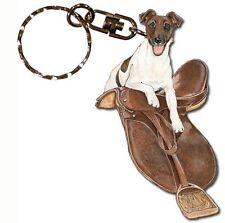 Fox Terrier Wooden Keychain