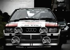 AUDI QUATTRO 1984 CAR CLASSIC POSTER ART WALL LARGE IMAGE GIANT