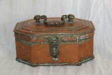 ancienne boite de marchand d'épices en cuivre. Inde début XIX ème.