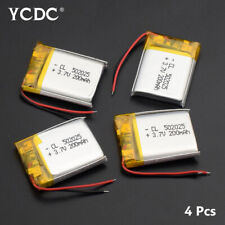 3,7 V 200 mAh Li-Po Akku 502025 Für Bluetooth Headset MP3 4 Stücke 5521023