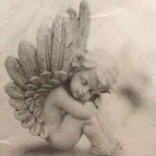 paper napkins decoupage x 2 Christmas dreaming angels 33cm