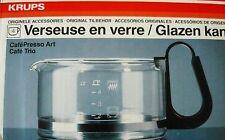 Verseuse en verre pour cafetière KRUPS Cafépresso art Café trio