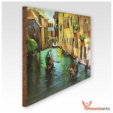 Cuadro metal 3d Venezia Gondolero ITALIA ejemplar Único relieve de pared - 403