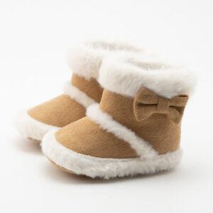 Fashion Newborn Baby Boy Girl Crib Shoes High Top Infant Toddler Warm Snow Boots