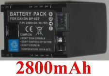 Akku 2800mAh typ BP-827 BP827 Für Canon Legria HF G25