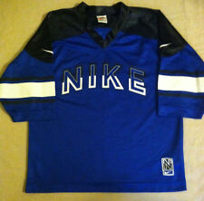 BEAUTIFUL NIKE  JERSEY BLUE WITH BLACK & WHITE TRIM  YOUTH MED ( 10/12 )