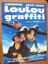 AFFICHE - LOULOU GRAFFITI ANEMONE JEAN RENO
