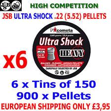 JSB ULTRA SHOCK HEAVY  .22 5.52mm Airgun Pellets 6(tins)x150pcs (IMPACT)