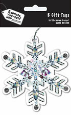 Snowflake Christmas Gift Tags Pack Of 8 Tags With String