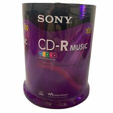 Sony CD-R Color Collection Music Audio Discs 100 Pack 80 Min