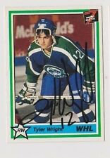 1991 7th Inning Stretch Tyler Wright Swift Current Broncos Autographed Card