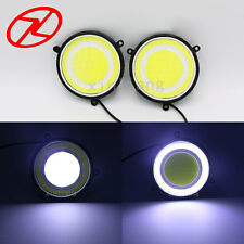102PCS Car accessories LED Daylight 90 mm round waterproof DRL White turn signal