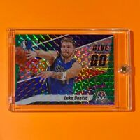 Luka Doncic GREEN PRIZM MOSAIC REFRACTOR GIVE AND GO SPECIAL INSERT - Mint!
