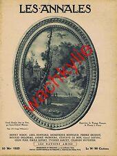 Les annales n°2185 10/05/1925 Exposition Paysage français Corot Chat noir Hyspa