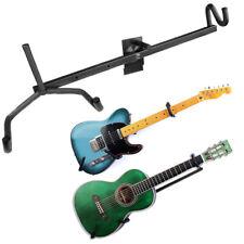 Horizontal Guitar Wall Hanger Bracket Electric Acoustic Bass Ukulele (Black)