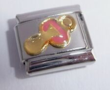 PINK DUMMY Italian Charm - 9mm Classic Size - I Love my NEW BABY GIRL Pacifier
