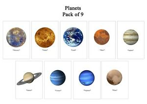 Planet's solar System 6x4 Space universe earth wall art Pictures Poster 9 Prints