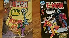 LARGE LOT OF 2 E-MAN COMICS FROM THE 1970s #3 AND #4