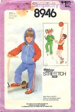 Vintage 1979 Simplicity # 8946 Sewing Pattern: Child's Hooded Jacket; Size 2-3-4