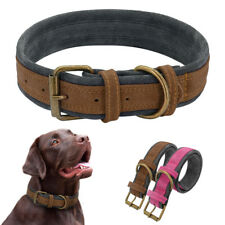 Luxury Genuine Leather Dog Collar K9 Dogs Brown Walking Collar for Rottweiler ML