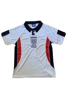 1998 England David Beckham 7 Home Shirt Size Medium