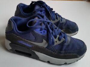 Nike Air Max 90 Blue Grey Black Trainers UK 5.5, EU 38.5