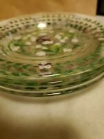 HTF. Lot of 4. I. Godinger & Co. Hand Painted Glass Plates. Stunning.