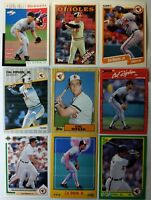 "Cal Ripken Jr lot of 9 different Vintage Cards! Baltimore Orioles HOF ""Iron Man"""