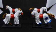 Citadel Miniatures Warhammer/brettonia/elfos nobles plata ley Helms caballos X 4