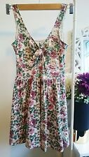 womens floral tye front thin strap skater summer dress size extra small
