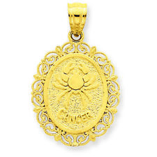 14K Yellow Gold Cancer Zodiac Oval Charm Pendant MSRP $310