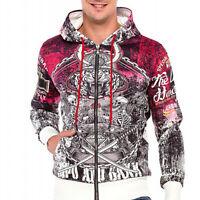 Cipo & Baxx PUNK Kapuzen Sweatshirt Jacke CL364 alle Gr. Neu
