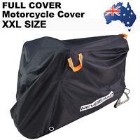 XXL Waterproof Outdoor Oxford Motorcycle Cruiser Scooter Motorbike Cover Storage
