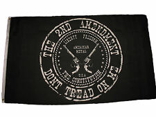 3x5 Second Amendment Black Gadsden Don't Tread on Me Nylon Poly Premium Flag