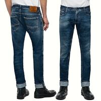 REPLAY jeans da uomo taglia W32 pantalone stretto THYBER premium denim slim fit