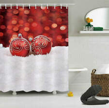 Christmas Is Shining Waterproof Polyester Shower Curtain Liner Water Resistant