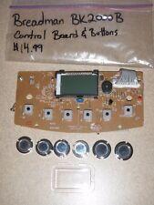 Breadman Bread Maker Control Board & Buttons for Model BK2000B (Used) BK2000BQ