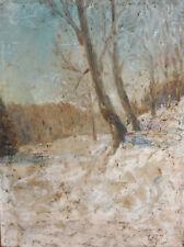 1967 oil painting impressionist landscape signed